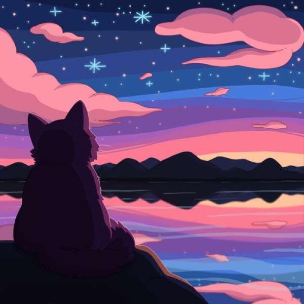 Purrple Cat - Sky Lake